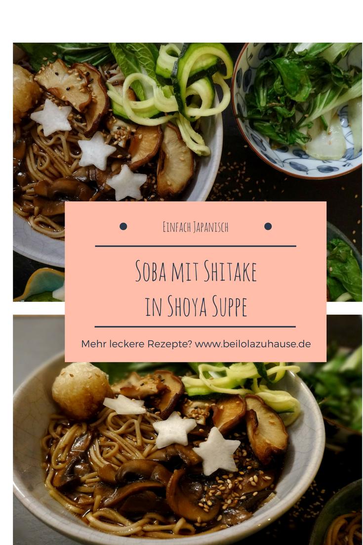 Leckere Soba mit Shitake. Ganz einfach zubereitet.