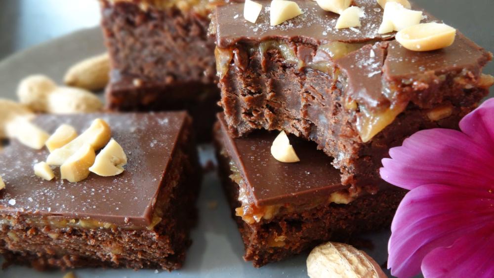 Vegane Erdnussbutter Schoko Brownies Bei Lola Zu Hause